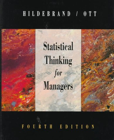 Statistical Thinking for Managers  4th 1998 (Revised) edition cover