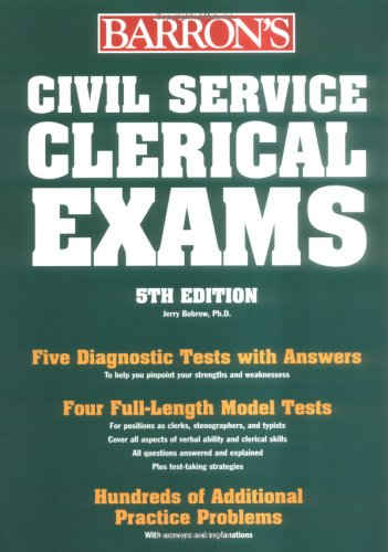 Civil Service Clerical Exams  5th 2005 9780764124068 Front Cover
