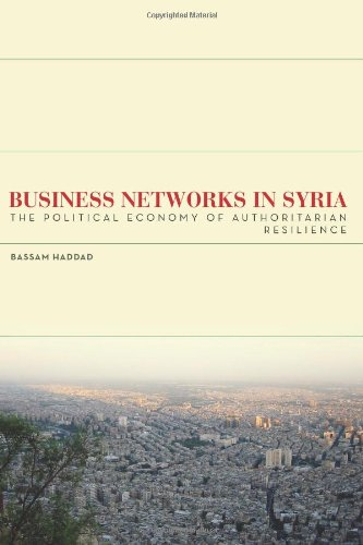 Business Networks in Syria The Political Economy of Authoritarian Resilience  2011 edition cover