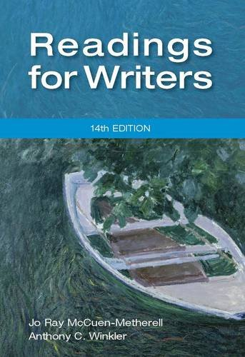 Readings for Writers  14th 2013 edition cover