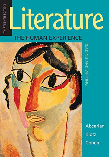 Literature: the Human Experience  13th 9781319105068 Front Cover
