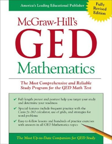 McGraw-Hill's GED Mathematics The Most Comprehensive and Reliable Study Program for the GED Math Test  2003 edition cover