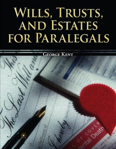 Wills, Trusts, and Estates for Paralegals   2008 edition cover