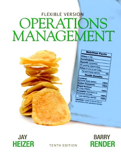 Operations Management Flexible Version with Lecture Guide and Activities Manual Package 10th 2012 edition cover