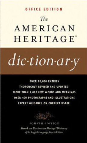 The American Heritage Dictionary of the English Language:  4th 2001 9780618077069 Front Cover