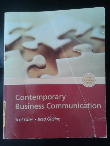 Contemporay business Comm 1ce  6th 2008 9780618738069 Front Cover