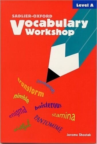Vocabulary Workshop, Student Text, Level A 1st 2002 (Student Manual, Study Guide, etc.) edition cover