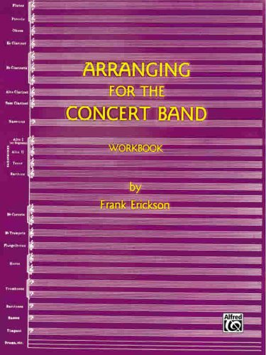 Arranging for the Concert Band 1st (Workbook) edition cover