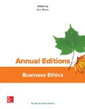Business Ethics:   2016 9781259664069 Front Cover
