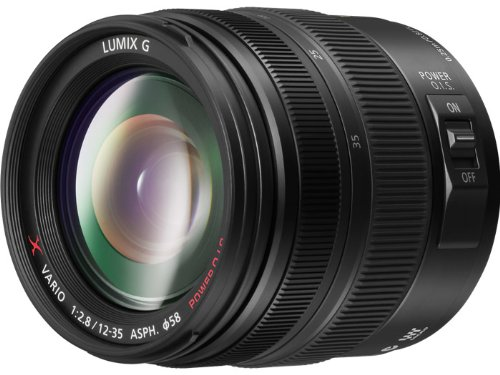 PANASONIC LUMIX G X VARIO LENS, 12-35MM, F2.8 ASPH., PROFESSIONAL MIRRORLESS MICRO FOUR THIRDS, POWER OPTICAL I.S. H-HS12035 (2012 Model - USA BLACK) product image