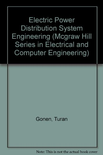 Electric Power Distribution System Engineering   1986 9780070237070 Front Cover