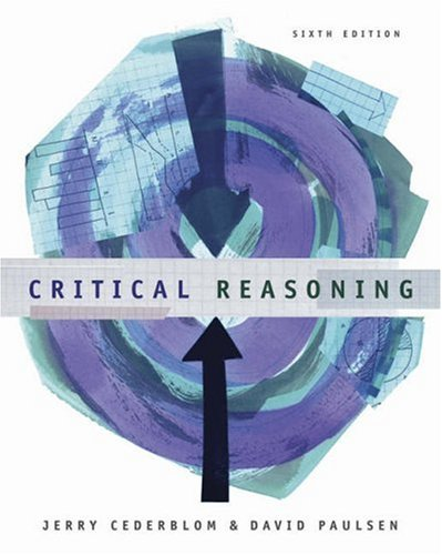 Critical Reasoning  6th 2006 9780534605070 Front Cover