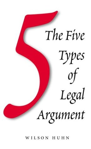 Five Types of Legal Argument  2002 edition cover