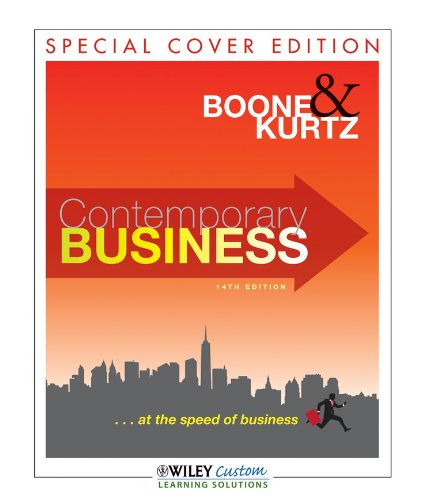 Contemporary Business 14E for Western District  14th 2011 9781118114070 Front Cover