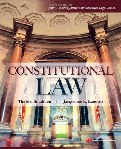 Constitutional Law  13th 2012 (Revised) edition cover