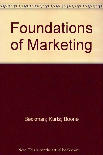 FOUNDATIONS OF MARKETING >CANA 5th 1997 edition cover