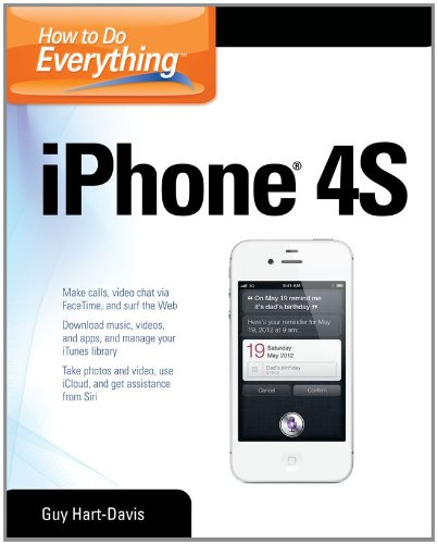 How to Do Everything IPhone 4S   2012 9780071783071 Front Cover