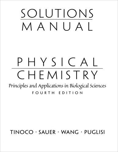 Physical Chemistry Principles and Applications of Biological Sciences 4th 2002 edition cover