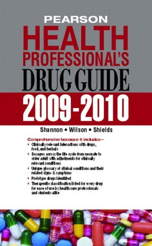 Pearson Health Professional's Drug Guide 2009-2010   2010 edition cover