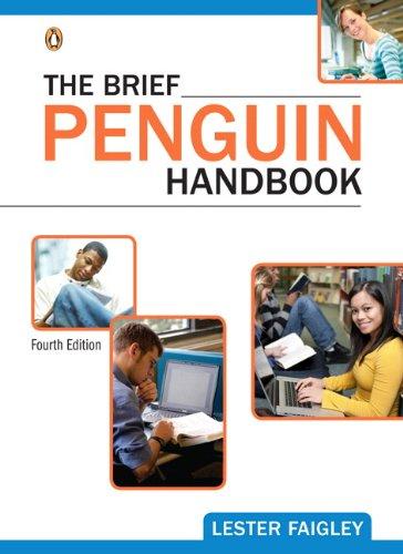 Brief Penguin Handbook  4th 2012 edition cover