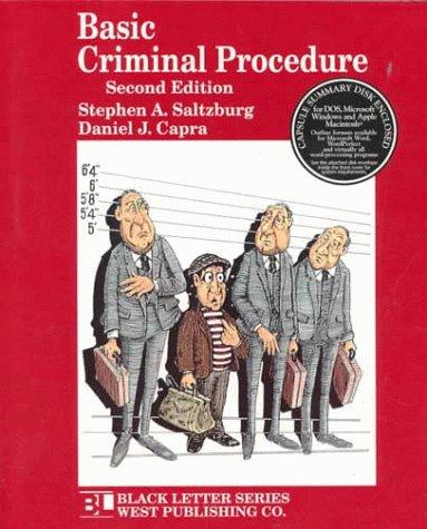 Black Letter on Criminal Procedure 2nd 1997 edition cover