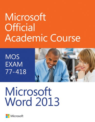 Exam 77-418 Microsoft Word 2013   2014 edition cover