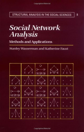 Social Network Analysis Methods and Applications  1994 edition cover