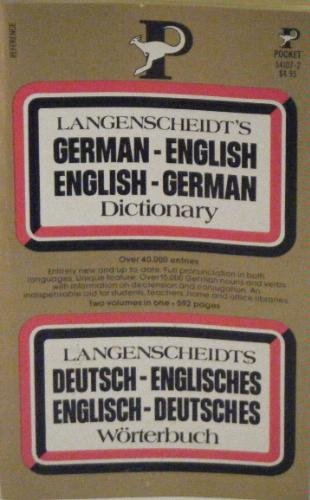 German-English Dictionary N/A 9780671541071 Front Cover
