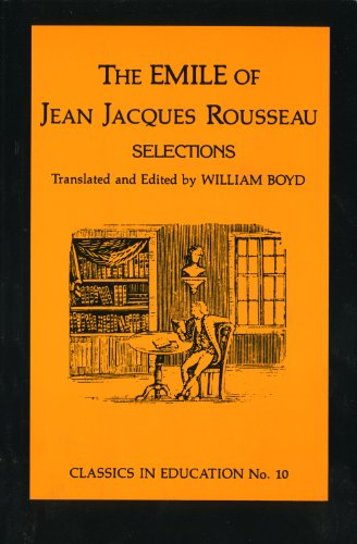 Emile of Jean Jacques Rousseau N/A edition cover