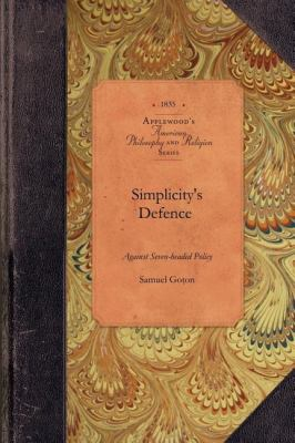 Simplicity's Defence Against Seven-Headed Policy  N/A 9781429019071 Front Cover