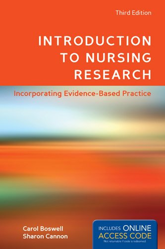 Introduction to Nursing Research  3rd 2014 9781449695071 Front Cover