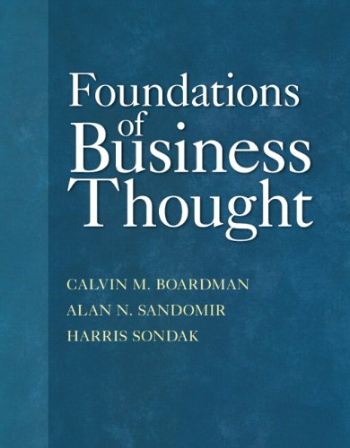 Foundations of Business Thought   2013 edition cover