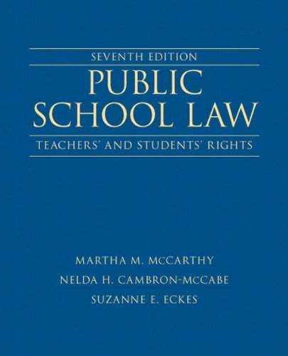 Public School Law Teachers' and Students' Rights Plus NEW MyEdLeadershipLab with Pearson EText -- Access Card 7th 2014 edition cover