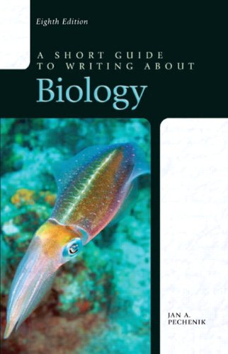 Short Guide to Writing about Biology  8th 2013 (Revised) 9780205075072 Front Cover