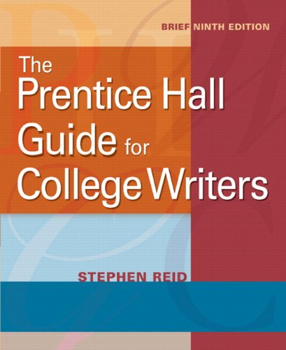 Prentice Hall Guide for College Writers  9th 2011 edition cover