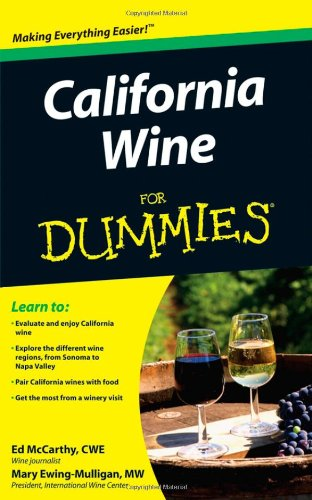 California Wine for Dummies   2009 edition cover