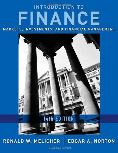 Introduction to Finance Markets, Investments, and Financial Management 14th 2011 edition cover