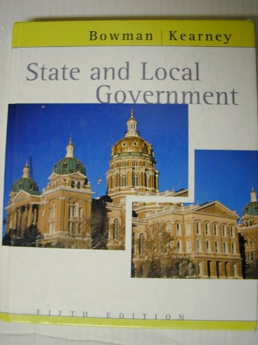 State and Local Government  5th 2002 9780618132072 Front Cover