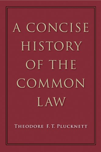 Concise History of the Common Law  5th 2010 edition cover
