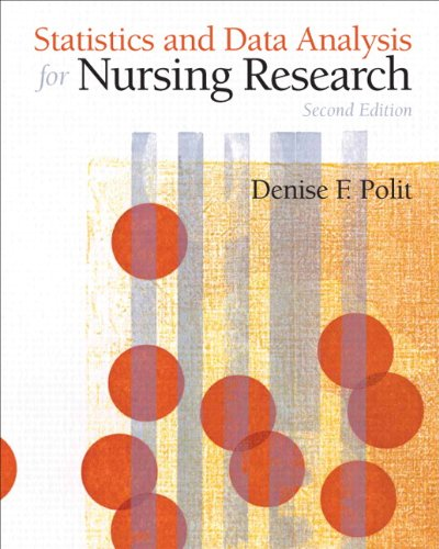 Statistics and Data Analysis for Nursing Research  2nd 2010 edition cover