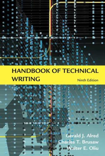 Handbook of Technical Writing  9th 2009 edition cover