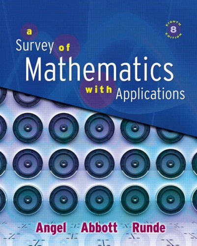 Survey of Mathematics with Applications  8th 2009 edition cover