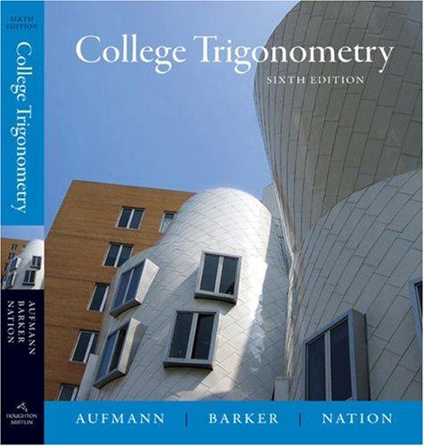 College Trigonometry  6th 2008 edition cover