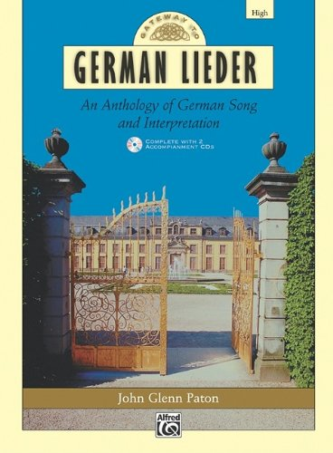 Gateway to German Lieder High Voice, Book and 2 CDs  2000 edition cover