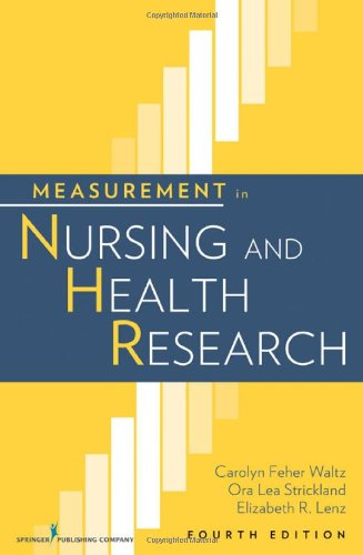 Measurement in Nursing and Health Research  4th 2010 edition cover
