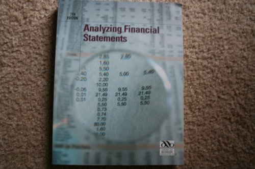 Analyzing Financial Statements 7th 2007 9780899826073 Front Cover