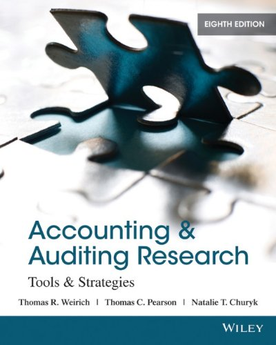 Accounting and Auditing Research Tools and Strategies 8th 2014 edition cover