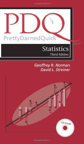 PDQ Statistics  3rd 2003 (Revised) edition cover