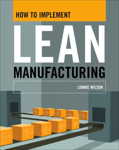 How to Implement Lean Manufacturing   2009 edition cover