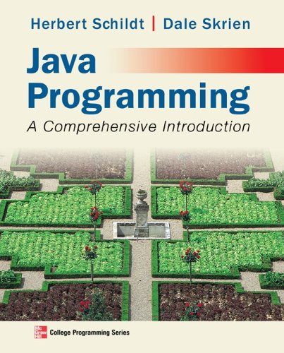 Java Programming A Comprehensive Introduction  2013 edition cover